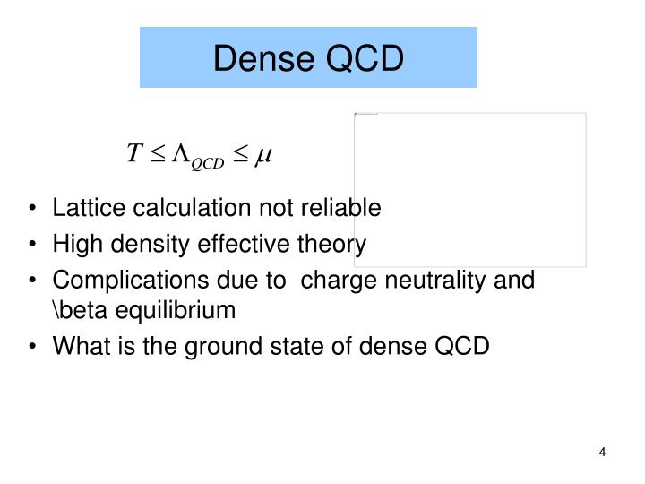 Dense QCD