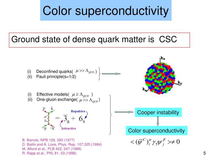 Color superconductivity
