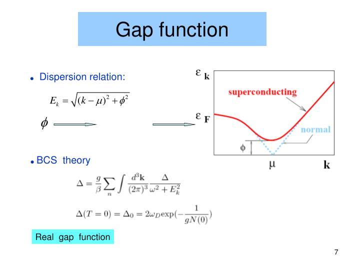 Gap function
