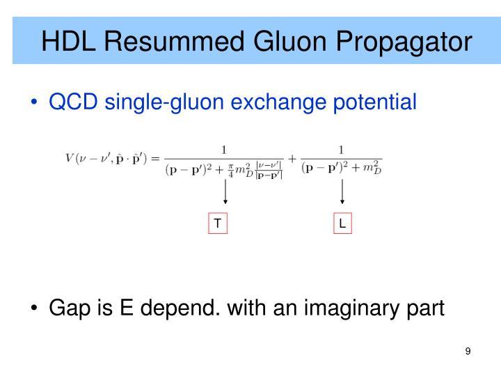 HDL Resummed Gluon Propagator