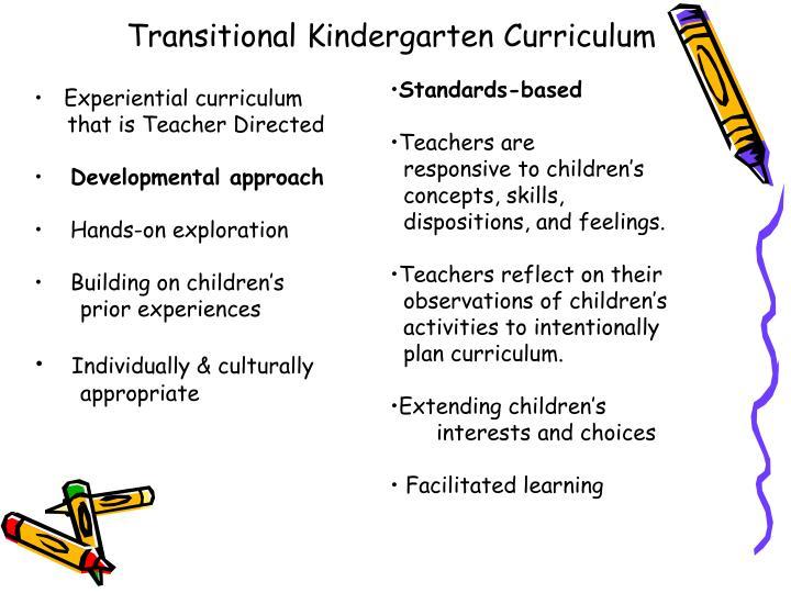Transitional Kindergarten Curriculum