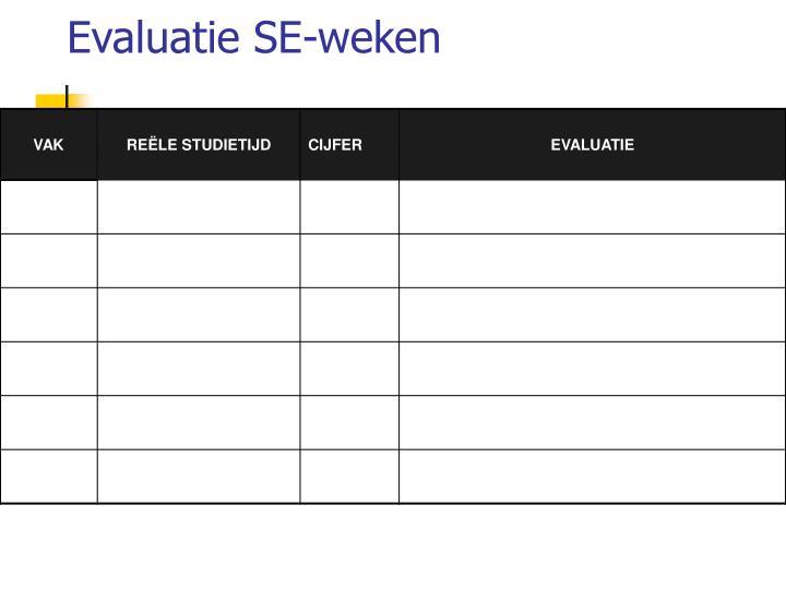 Evaluatie SE-weken