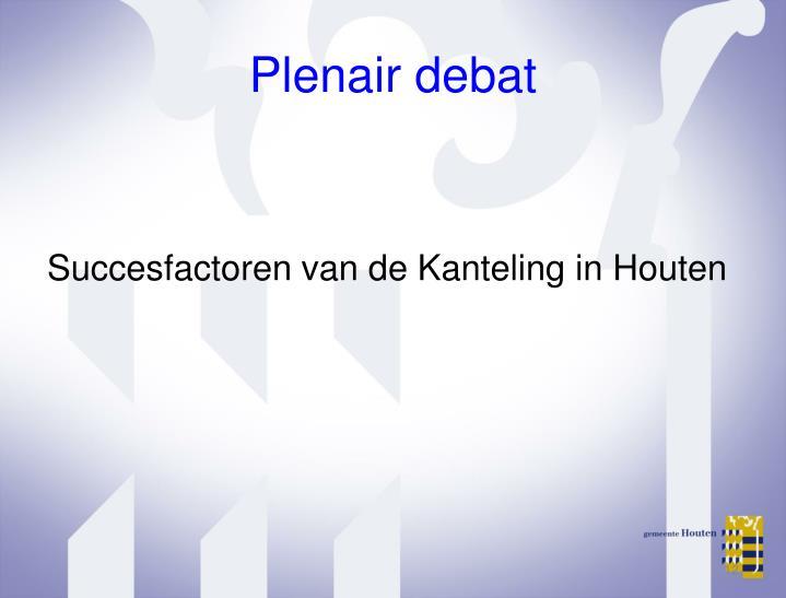 Plenair debat