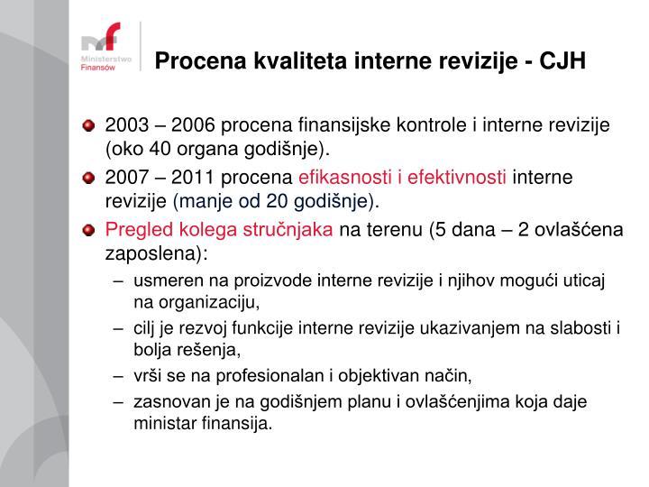 Procena kvaliteta interne revizije -