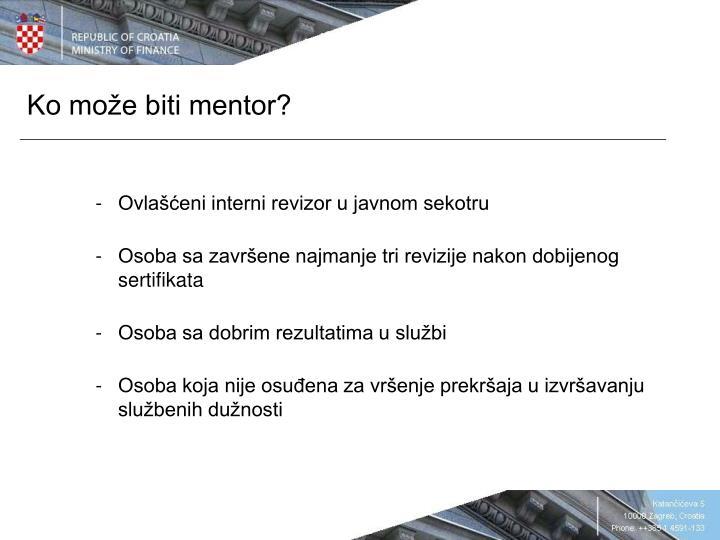 Ko može biti mentor?