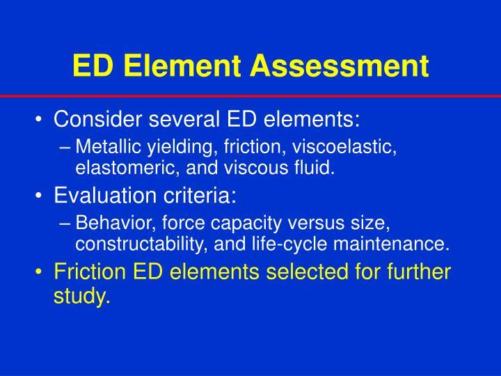 ED Element Assessment