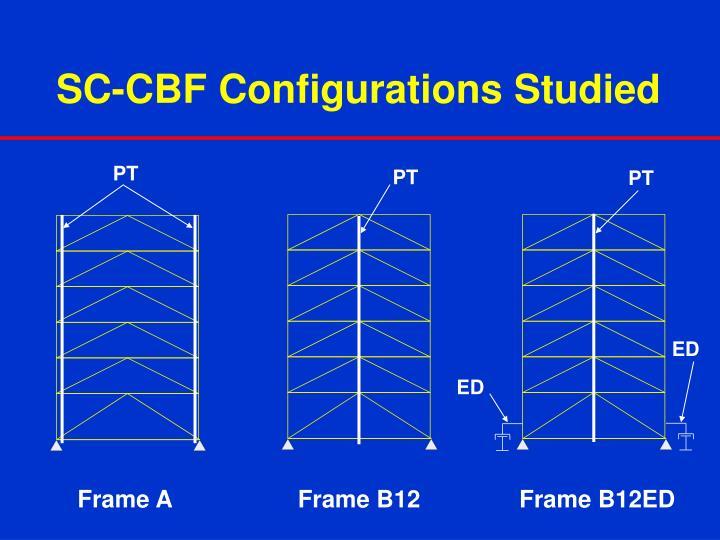 SC-CBF Configurations Studied