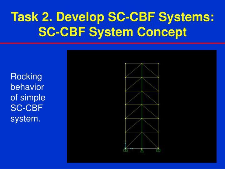 Task 2. Develop SC-CBF Systems: