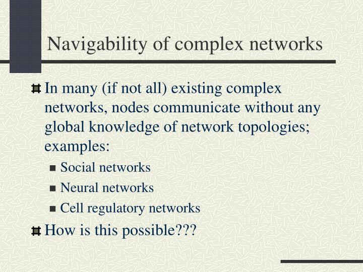 Navigability of complex networks