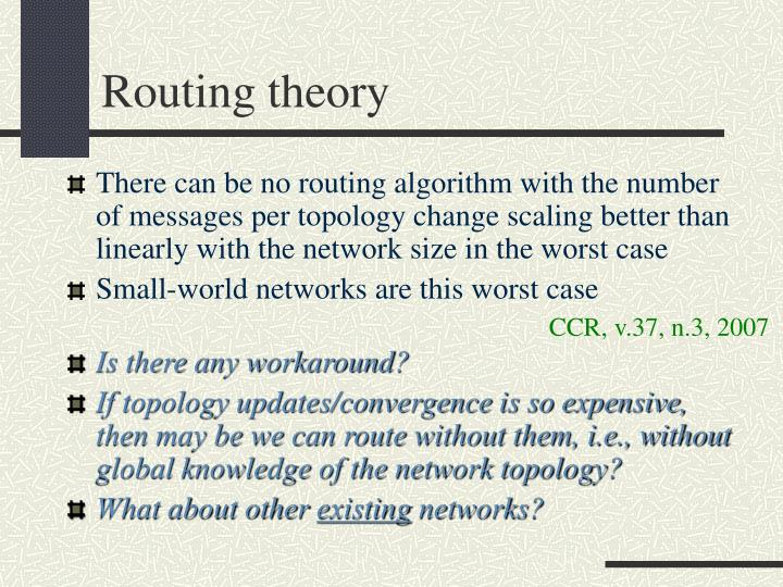 Routing theory
