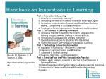 handbook on innovations in learning