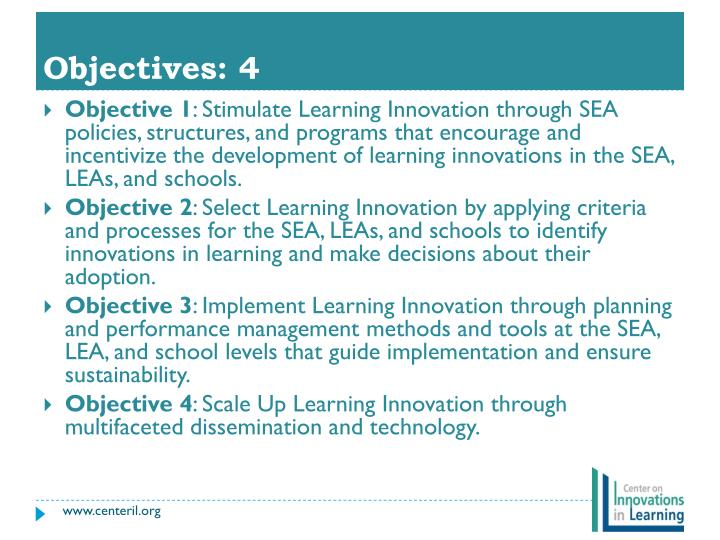Objectives: 4