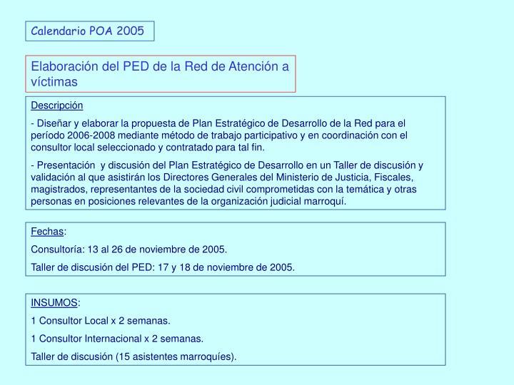 Calendario POA 2005