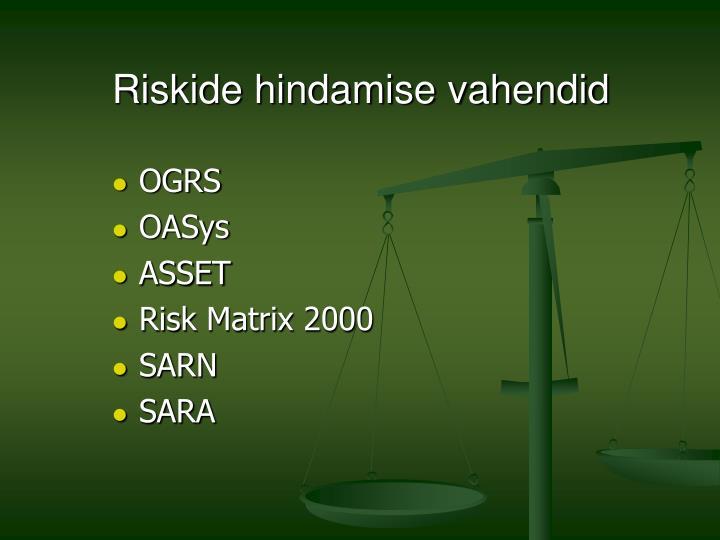 Riskide hindamise vahendid