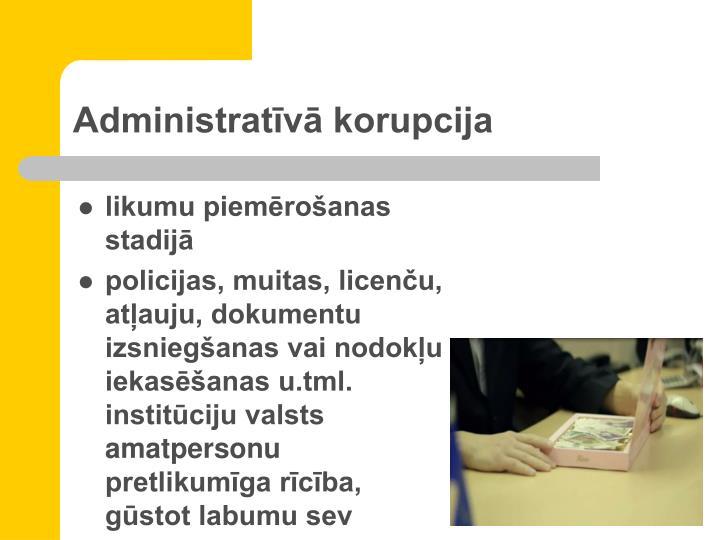 Administratīvā korupcija