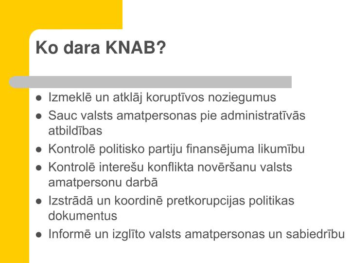 Ko dara KNAB?