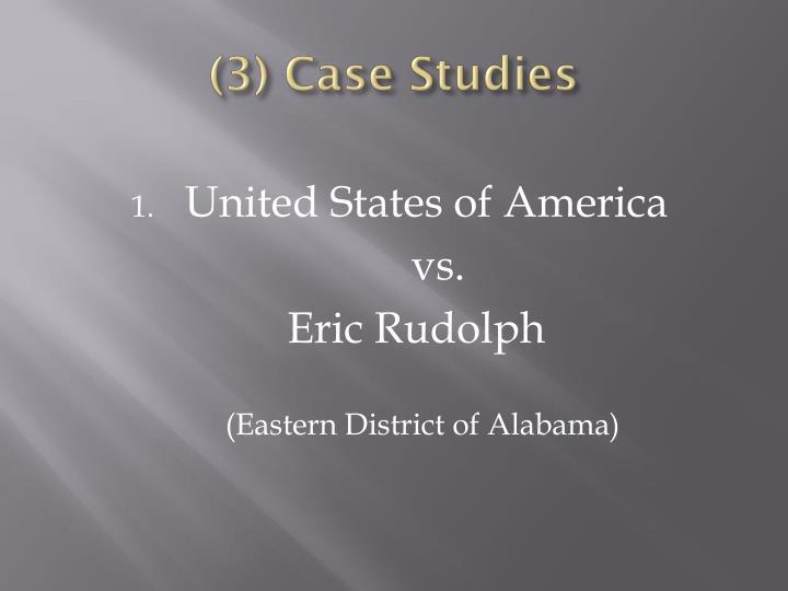 (3) Case Studies