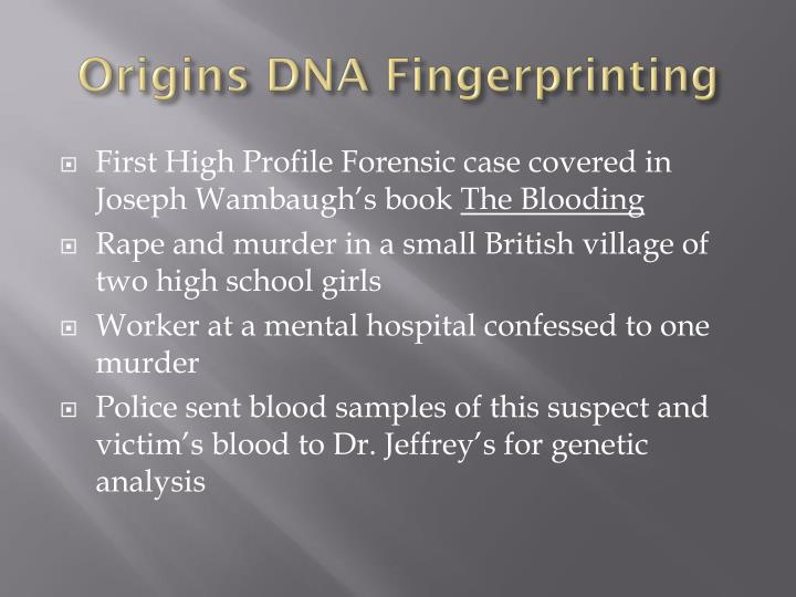 Origins DNA Fingerprinting