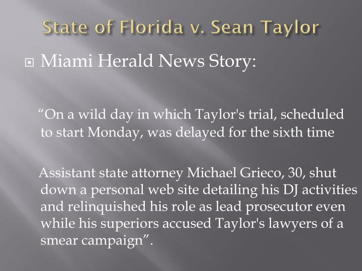 Miami Herald News Story: