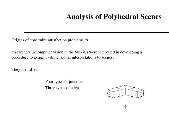 Analysis of Polyhedral Scenes