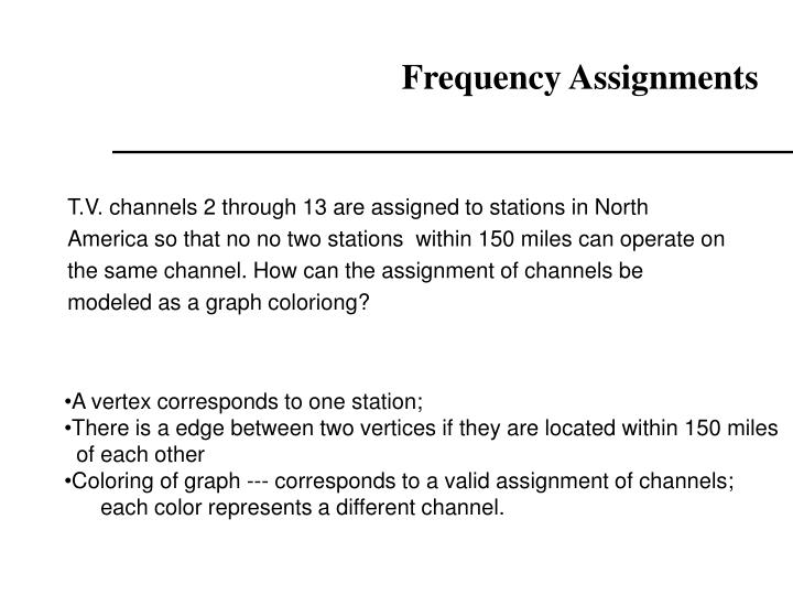 Frequency Assignments