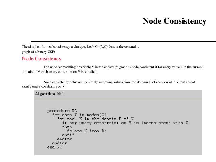 Node Consistency