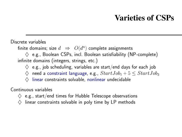 Varieties of CSPs