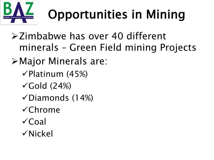 Opportunities in Mining