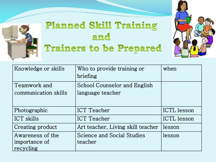 Planned Skill Training
