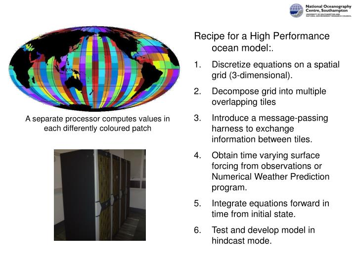 Recipe for a High Performance ocean model: