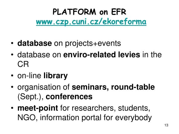 PLATFORM on EFR