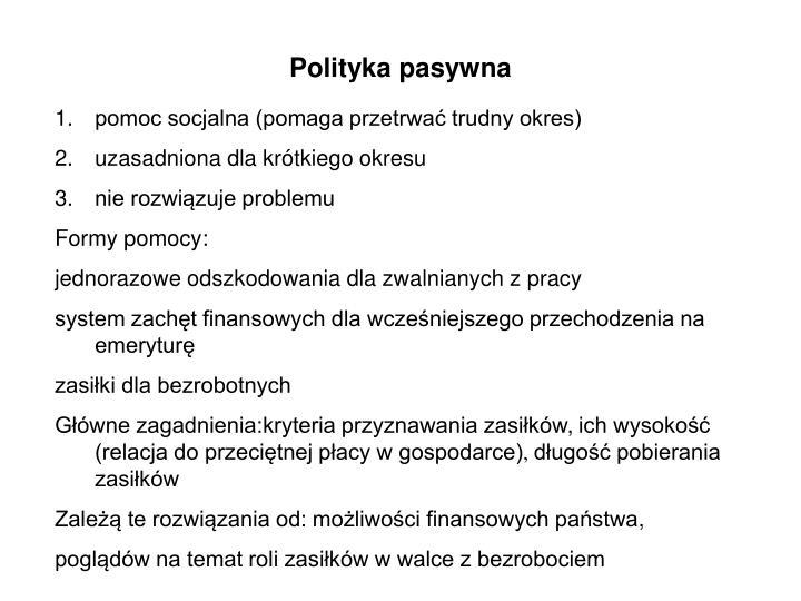 Polityka pasywna