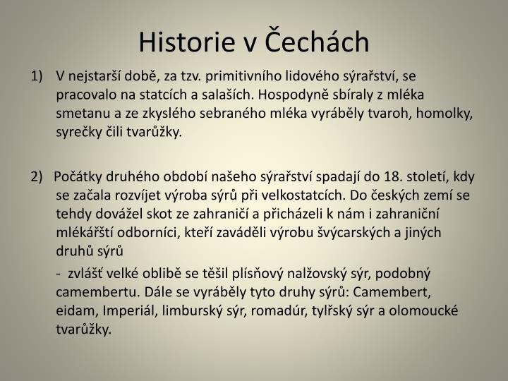 Historie v Čechách