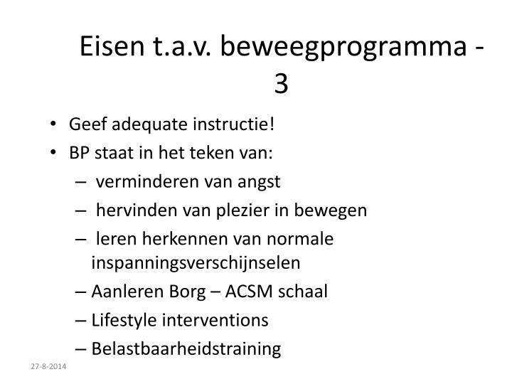 Eisen t.a.v. beweegprogramma - 3