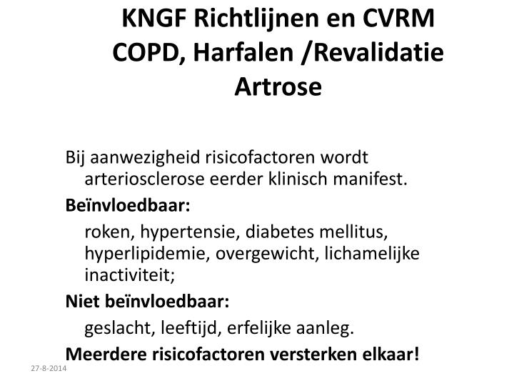 KNGF Richtlijnen en CVRM