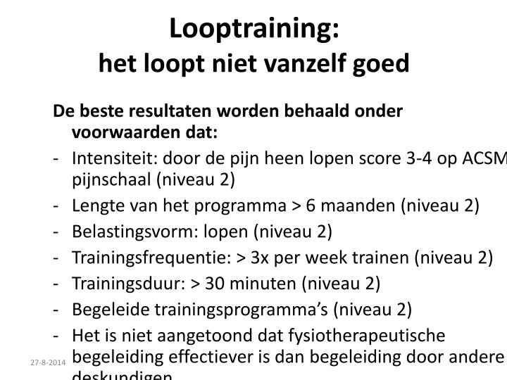 Looptraining: