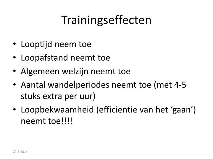 Trainingseffecten