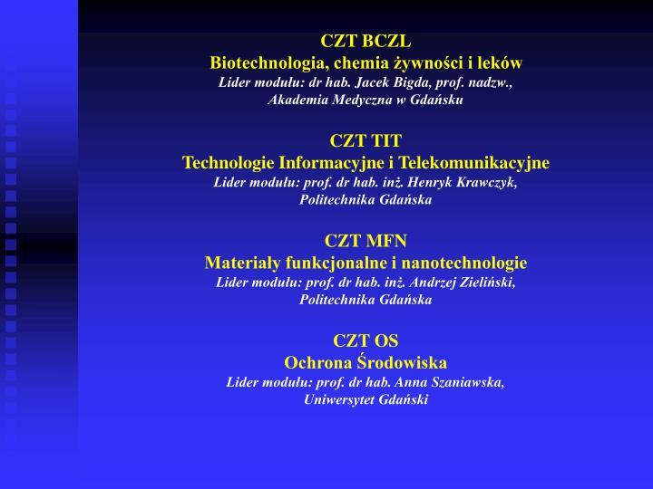 CZT BCZL