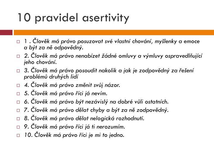 10 pravidel asertivity