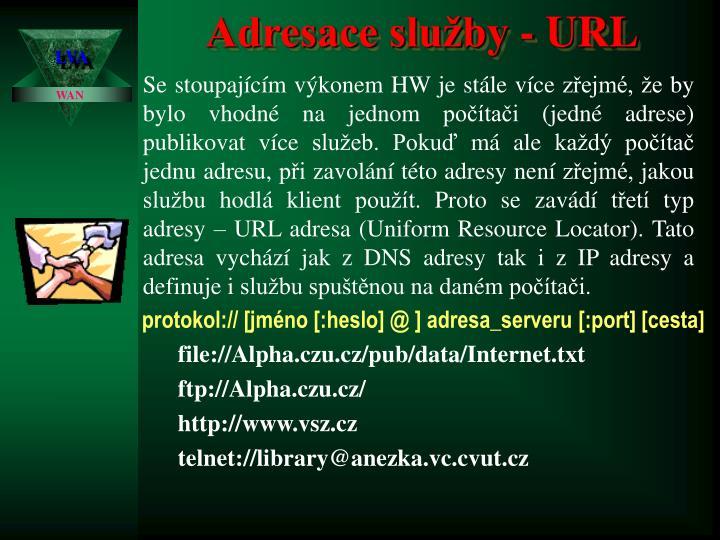 Adresace služby - URL