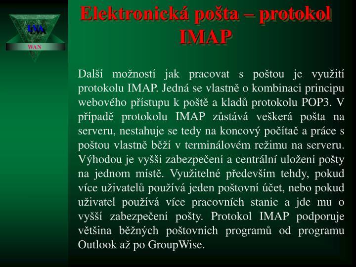 Elektronická pošta – protokol IMAP