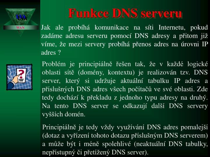 Funkce DNS serveru