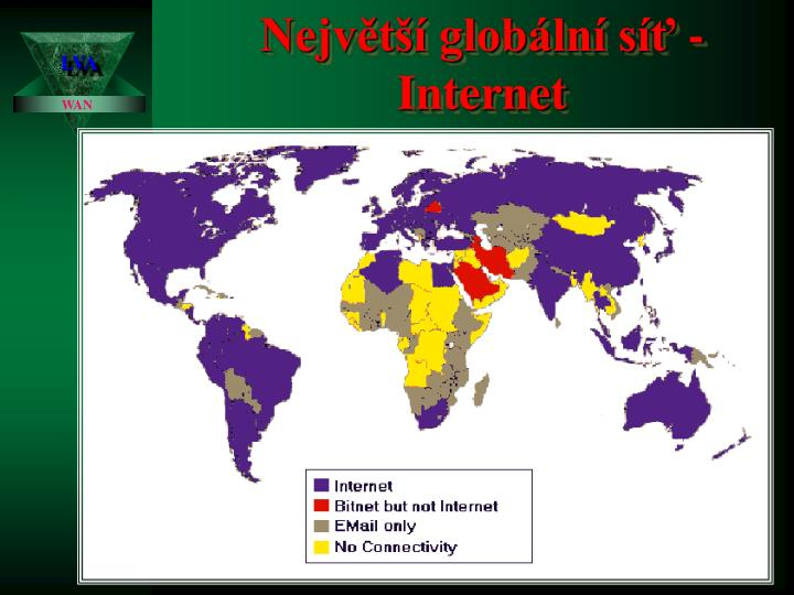 Největší globální síť - Internet