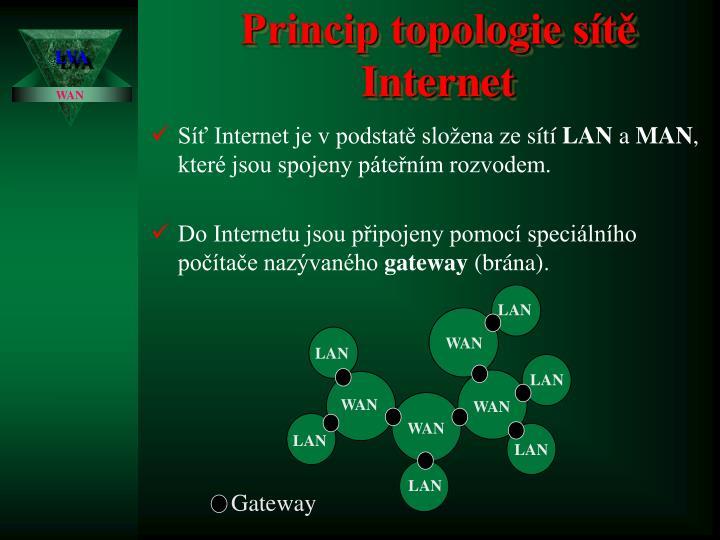 Princip topologie sítě