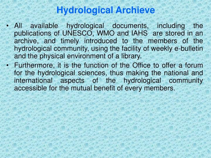 Hydrological Archieve