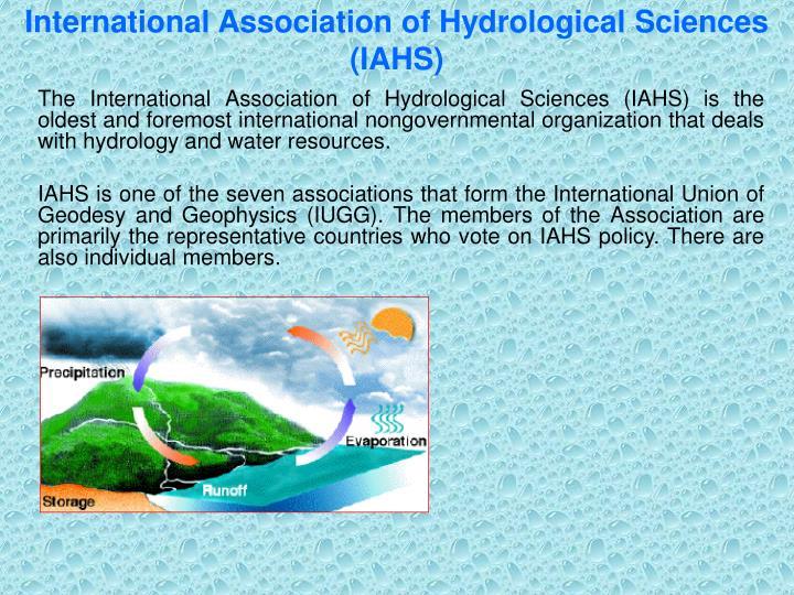 International Association of Hydrological Sciences (IAHS)