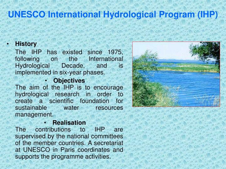 UNESCO International Hydrological Program (IHP)