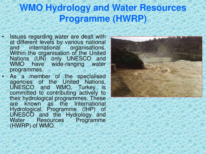 WMO Hydrology and Water Resources Programme (HWRP)
