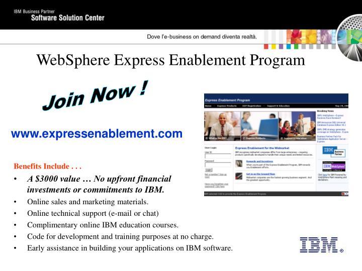 WebSphere Express Enablement Program