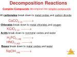 decomposition reactions1